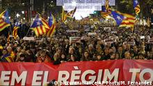 Spanien Barcelona Demonstration nach Kabinettssitzung der Zentralregierung