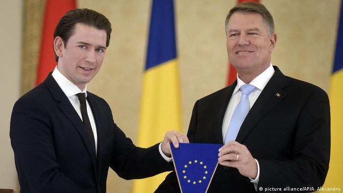 Rumänien, Bukarest: Sebastian Kurz und Klaus Iohannis