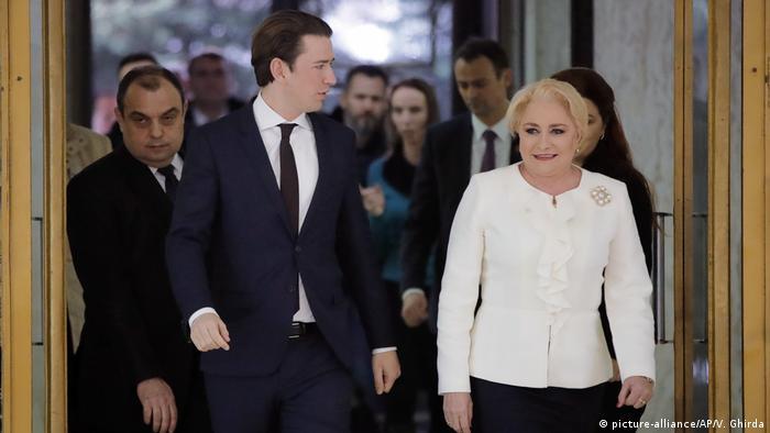 Rumänien, Bukarest: Sebastian Kurz auf Staatsbesuch