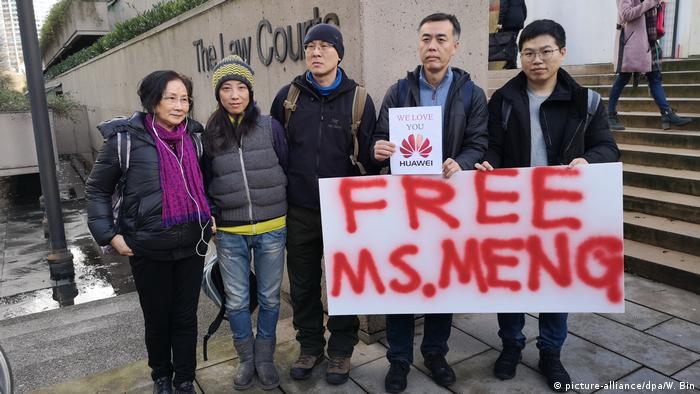 Kanada, Vancouver: Proteste zur Freilassung von Meng Wanzhou