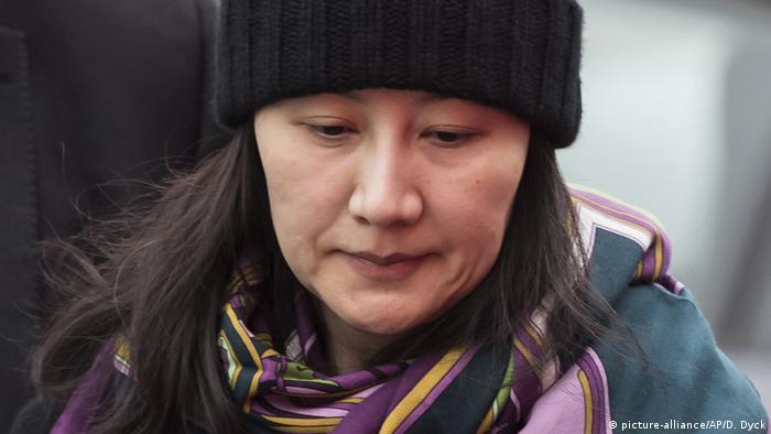 Kanada, Vancouver: Huawei Finanzchefin Meng Wanzhou (picture-alliance/AP/D. Dyck)