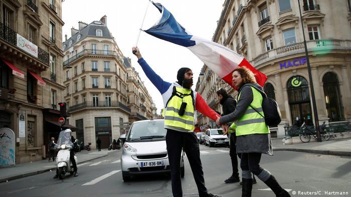 Yellow vest protest in Paris (Reuters/C. Hartmann)