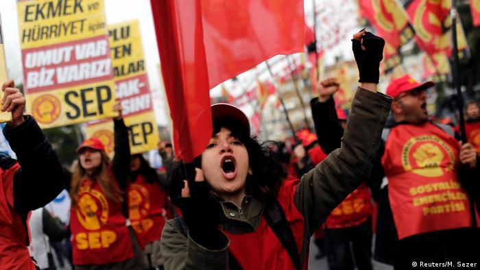 Акция протеста в Стамбуле, 22 декабря 2018 г.