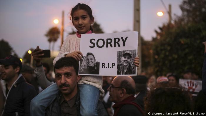 Marokko Rabat Mahnwachen nach Mord an Studentinnen