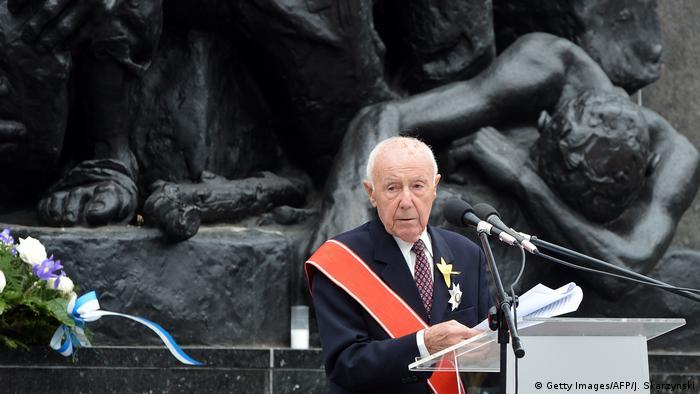 Simcha Rotem bei Gedenkveranstaltung in Warschau (2013)
