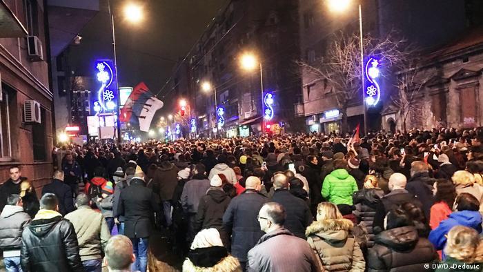 Serbien Demonstrationen in Belgrad