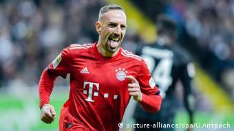 Fußball Bundesliga Eintracht Frankfurt - Bayern München Ribery torjubel