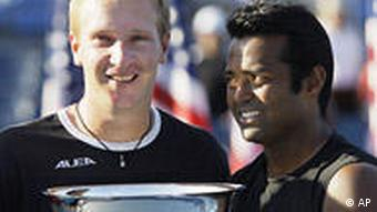 USA Sport US Open Tennis Leander Paes und Lukas Dlouhy
