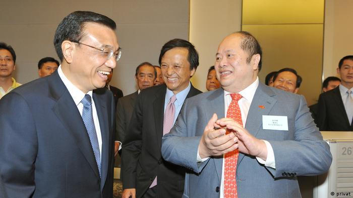 Christopher Cheung (R) bei Hong Kong Stock Exchange 2001