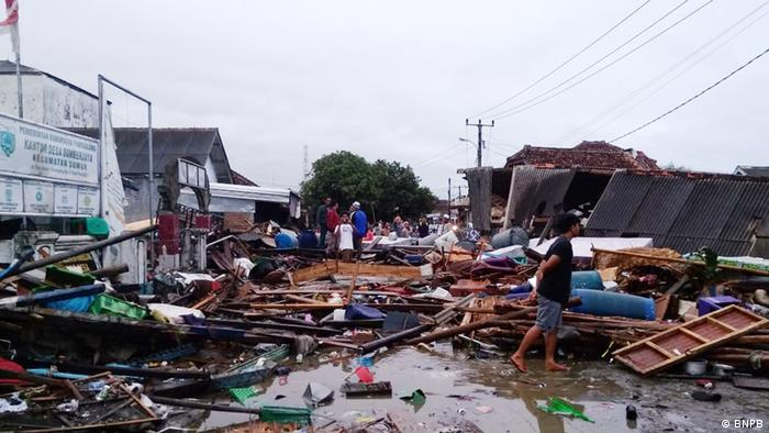 Indonesia after a tsunami
