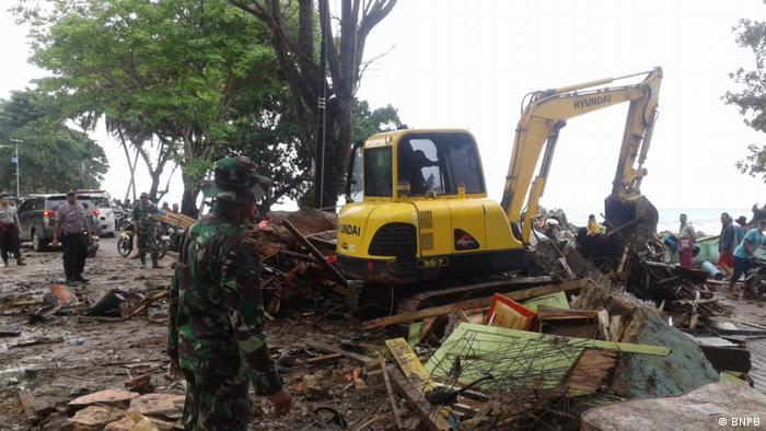 Indonesien Banten - Schäden nach Tsunami (BNPB)