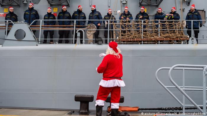 Deutschland   Rückkehr der Fregatte Lübeck