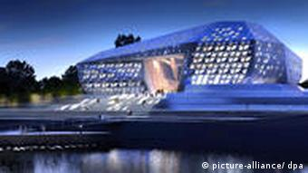 Zaha Hadid's diamond-like design proposal dpa/lnw +++(c) dpa - Bildfunk+++