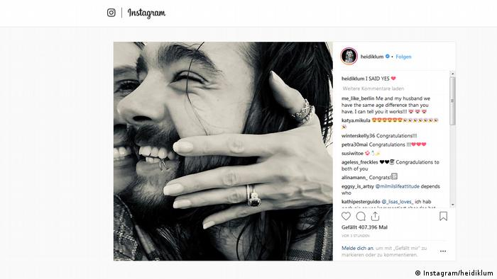 Screenshot Instagram Heidi Klum I said yes (Instagram/heidiklum)