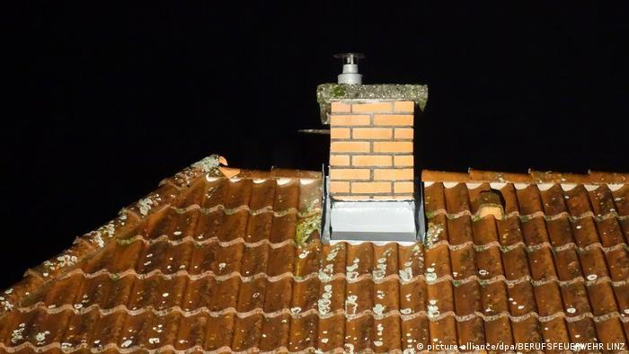 A boy spent hours stuck inside this chimney in Linz