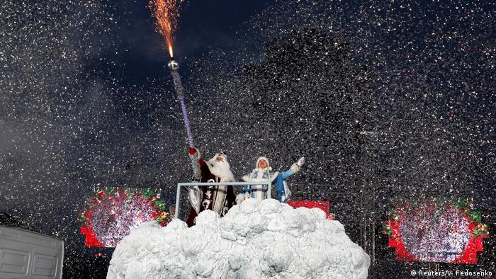Father Frost in Belarus (Reuters/V. Fedosenko)