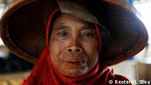 Indonesien Tsunami | Frau in der Provinz Banten