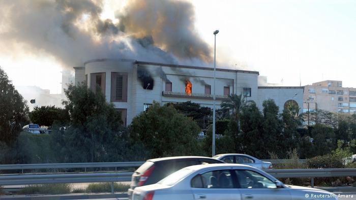Таракт в здании МИД Ливии