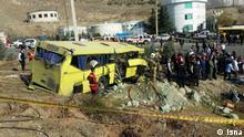 Iran Unfall Bus mit Studenten in Teheran