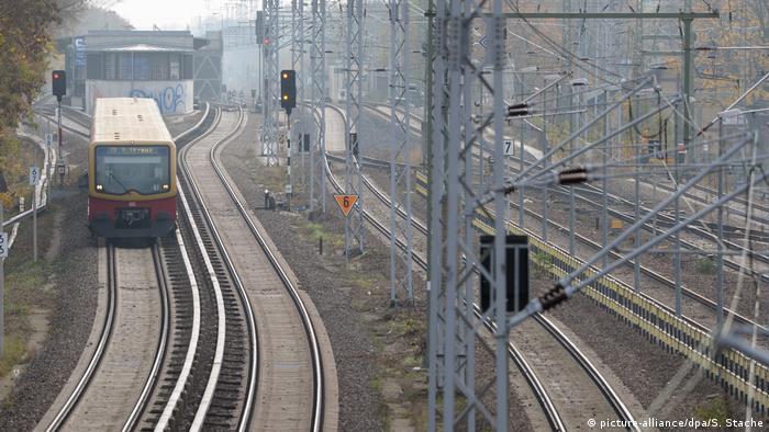 A commuter train in Berlin