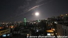 Syrien Staatsmedien: Syrische Luftabwehr reagiert auf Angriff nahe Damaskus