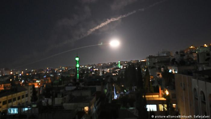 Image result for Syrian air defense, at night, photos