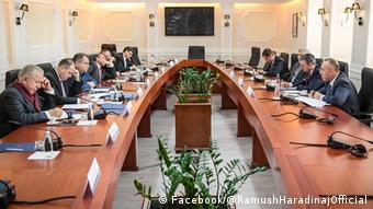 Kosovo Verhandlungen (Facebook/@RamushHaradinajOfficial)