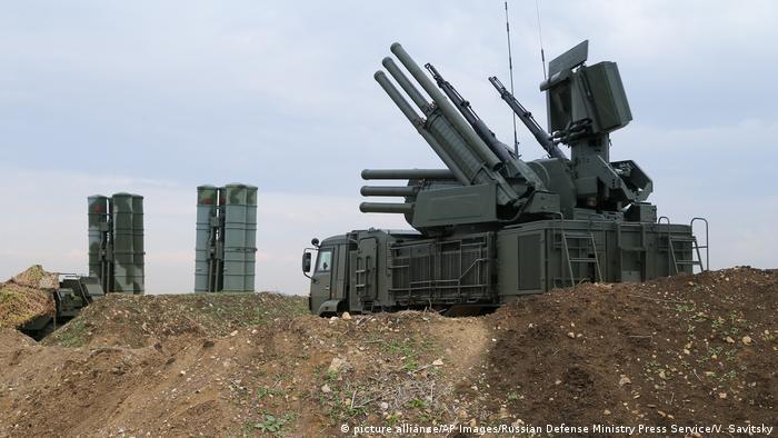 Российские зенитно-ракетные комплексы С-400 в Сирии