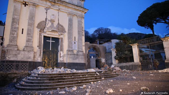 Через підземні поштовхи була пошкоджена церква Святої Агати