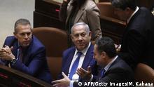 Parlamentssitzung Knesset Israel Verschiebung Wahlen