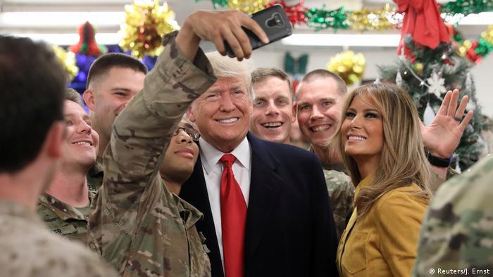 Trump besucht US-Truppen im Irak (Reuters/J. Ernst)