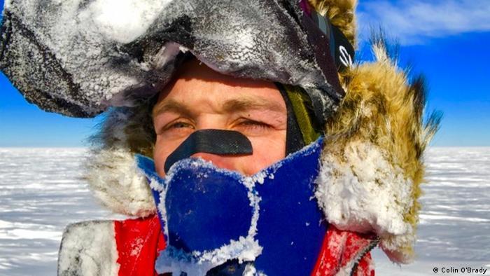 Мандрівник Колін О'Брейді в Антарктиді