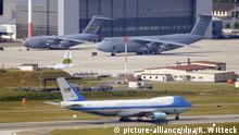 Ramstein Air Base Air force One des Präsidenten