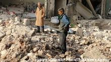 Syrien Luftangriffe in Aleppo