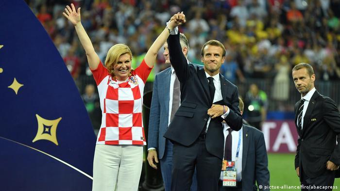 WM Finale 2018 Frankreich - Kroatien   Kolinda Grabar-Kitarovic