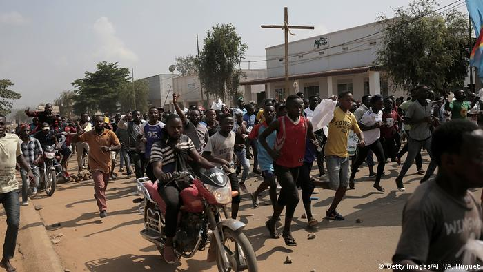 Congolese protesters in Beni.