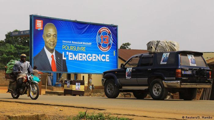 Emmanuel Ramazani Shadary billboard (Reuters/S. Mambo)