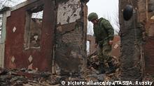 Ostukraine Zolotoye-5 village Separatisten Ruine