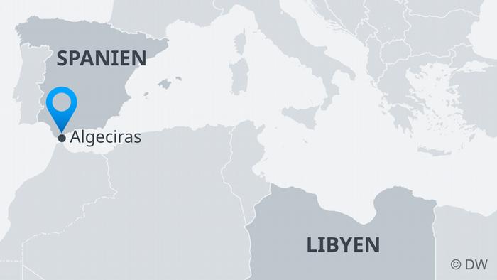 Karte Spanien Algeciras DE