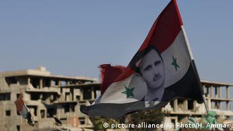 Syrische Armee Fahne Symbolbild
