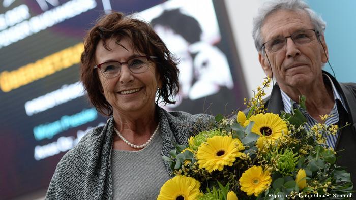 Israel - Schriftsteller Amos Oz zusammen mit Mirijam Pressler auf der Buchmesse Leipzig