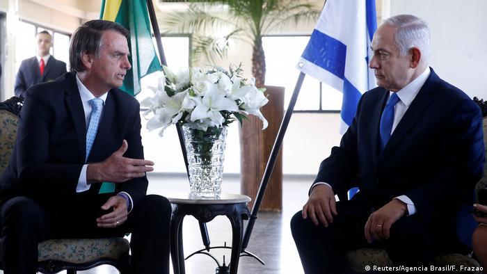 Brasilien Jair Bolsonaro und Benjamin Netanjahu