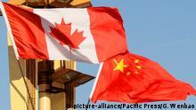 China Kanadische und Chinesische Flagge