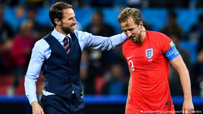 Gareth Southgate and Harry Kane (picture-alliance/Imaginechina/Z. Zhenbin)