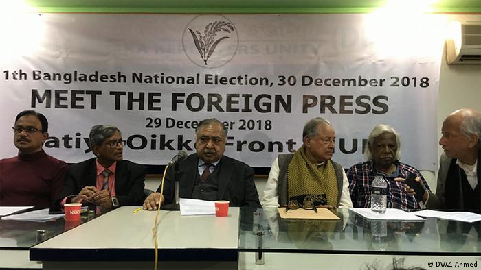 Bangladesch Wahlen l PK in Dhaka