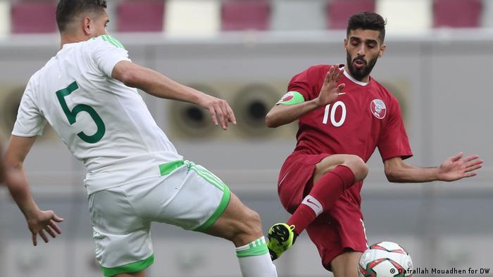 Fussball Asian Cup l Nationalmannschaft Qatar - hassan al hidouss (Dafrallah Mouadhen for DW)