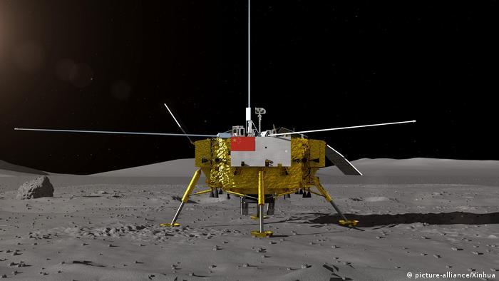 China's moon probe Chang'e-4