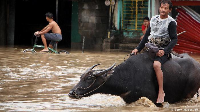 Philippinen Baao Überflutungen
