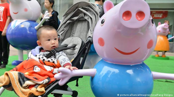 China Peppa Pig Figuren (picture-alliance/Imaginechina/Fang Dongxu)