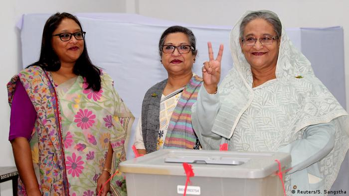 Bangladesch Dhaka Wahlen l Amtsinhaberin Sheikh Hasina